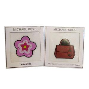 Michael Kors Set (2 Stickers) On Leather